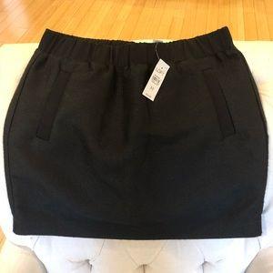 LOFT Black Tweed Skirt - NWT